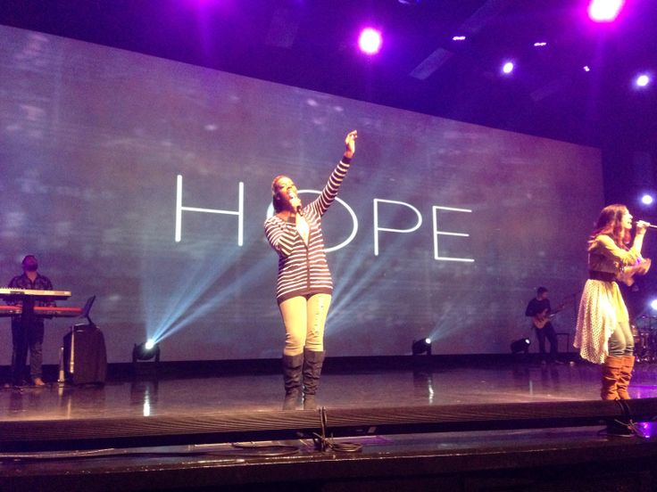can't think of too many words I'd rather see blown up huge. HOPE. (celebration church in Jacksonville FL)