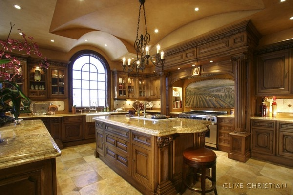 Tuscan Style Kitchen for-the-home