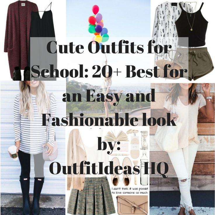 GET READY LADIES! HERE ARE SOME CUTE OUTFITS FOR SCHOOL THAT WE'RE SURE YOU'LL LOVE AND BE INSPIRED!!