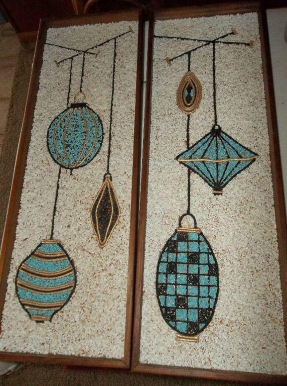 Atomic lights gravel wall art - vintage