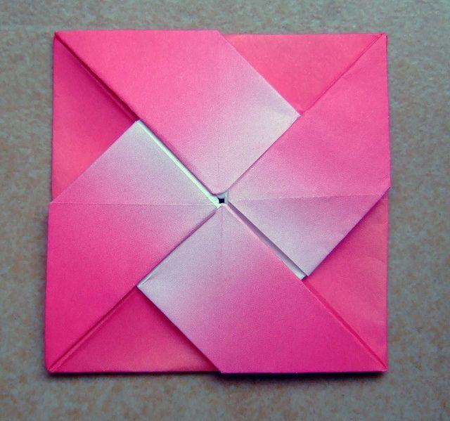 origami windmill letter fold   Flickr - Photo Sharing!