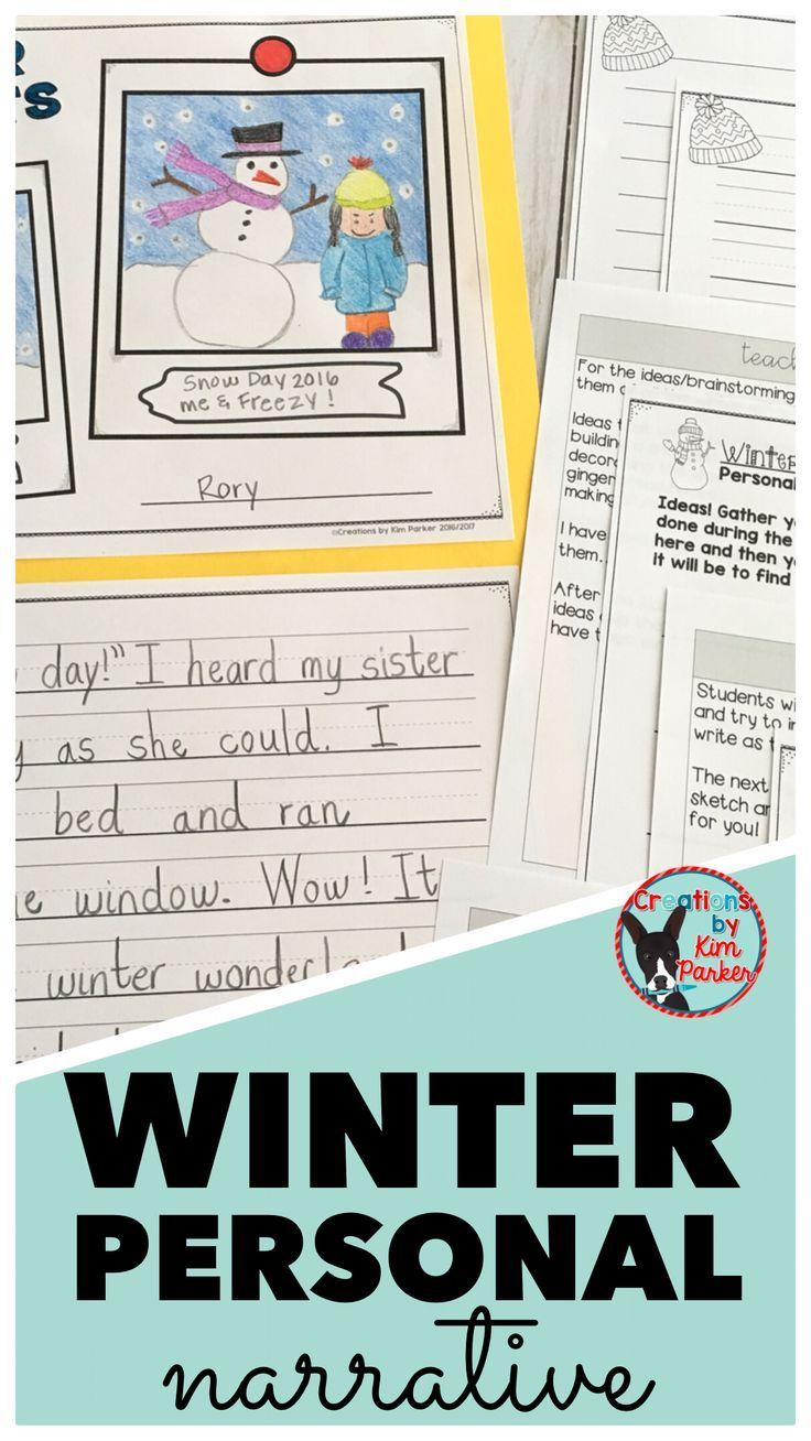 $ Winter Personal Narratives are so much fun for students- this resource has everything you need to take your students through the writing process to turn a winter memory into a personal narrative! $
