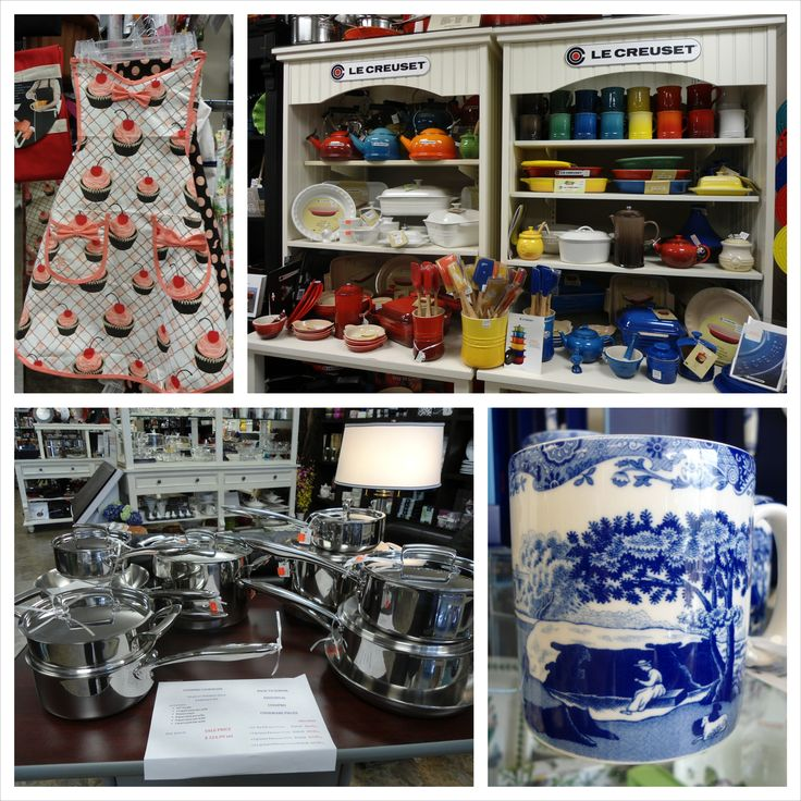 A collage of the stylish kitchen items on display at the Culinary Poet.
