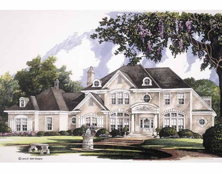 NeoClassical House Plan 4040 Square Feet and 4 Bedrooms Eplans - House Plan Code HWEPL01273
