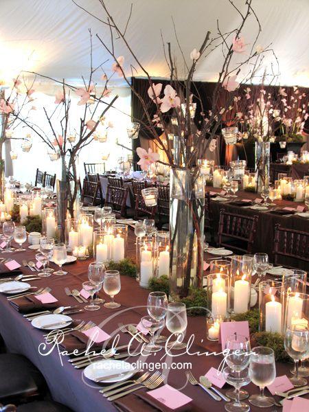 449 best wedding reception decor images on pinterest for Wedding reception centrepieces