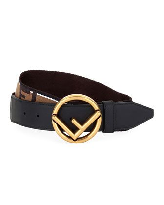 23d00a8dd26 Men  s+Forever+Fendi+Belt+with+Brass+Buckle+by+Fendi+at+Bergdorf+Goodman.