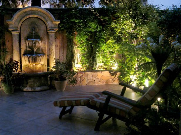 Patio at Night and Landscape Lighting