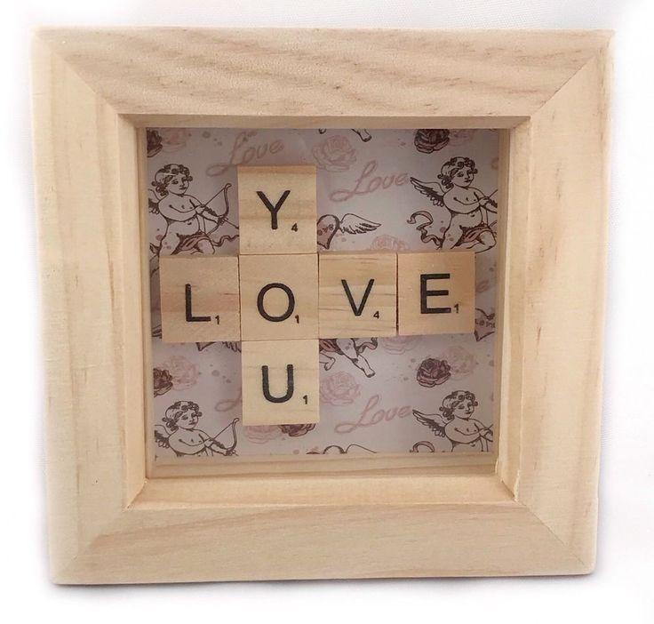 Love You Scrabble Box Frame Gift Cute Stocking Filler Wife Husband Partner Gift #scrabble #scrabbleboxframe #loveyou #boyfriendgift  eBay