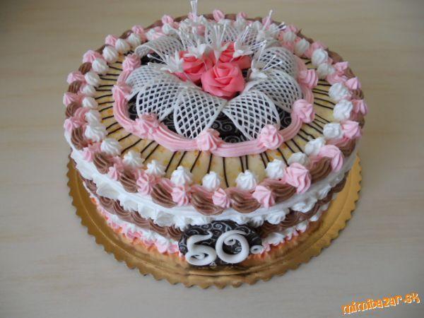 torta šľahačková s dekor. bil. poleva