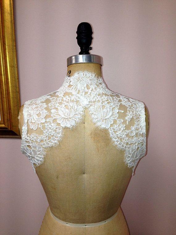 Sleeveless Keyhole Back Alencon Lace Bridal by GlorybyJeannieLee, $300.00