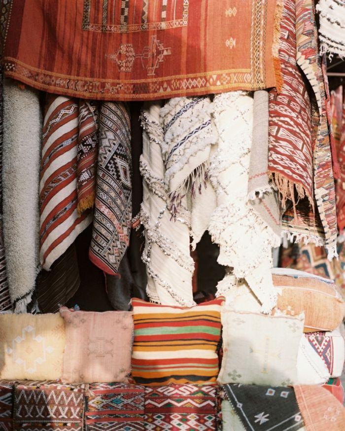 Hauseinrichtung Marokkanische Teppiche Ethno Muster Naturstoffe