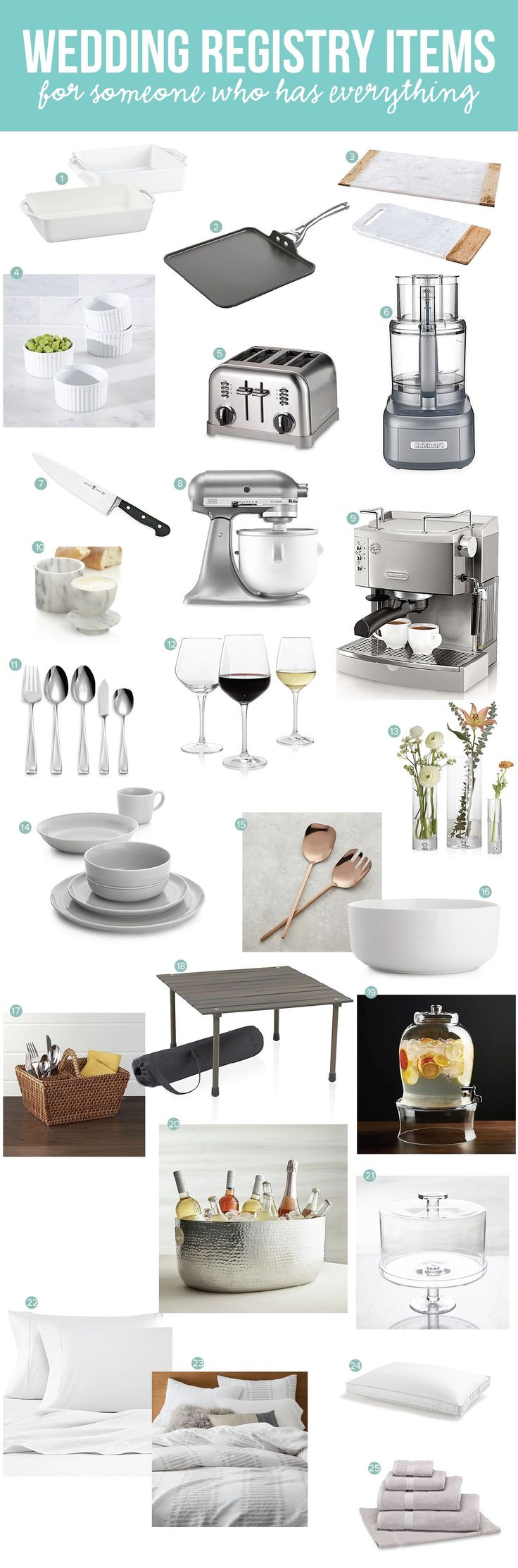 wedding registry items who have everything. Best items to register for for your wedding. Don't know what to register for and think you have everything? Check this list to see what items you should replace or add.