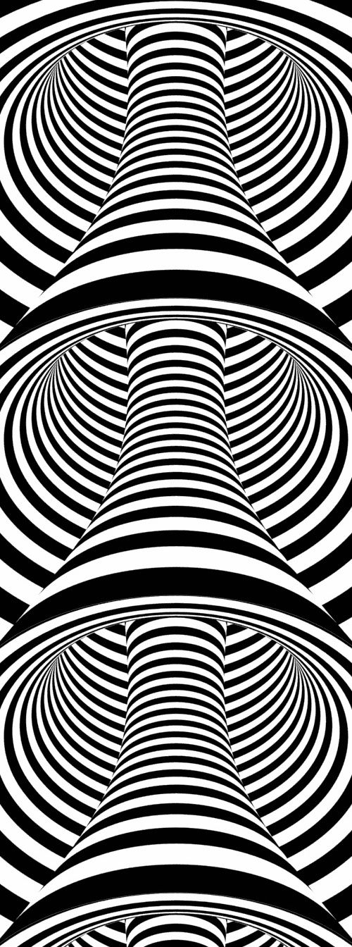optical patterns | Optical Illusion QQQ - by Osama Nofal | Geometric Patterns