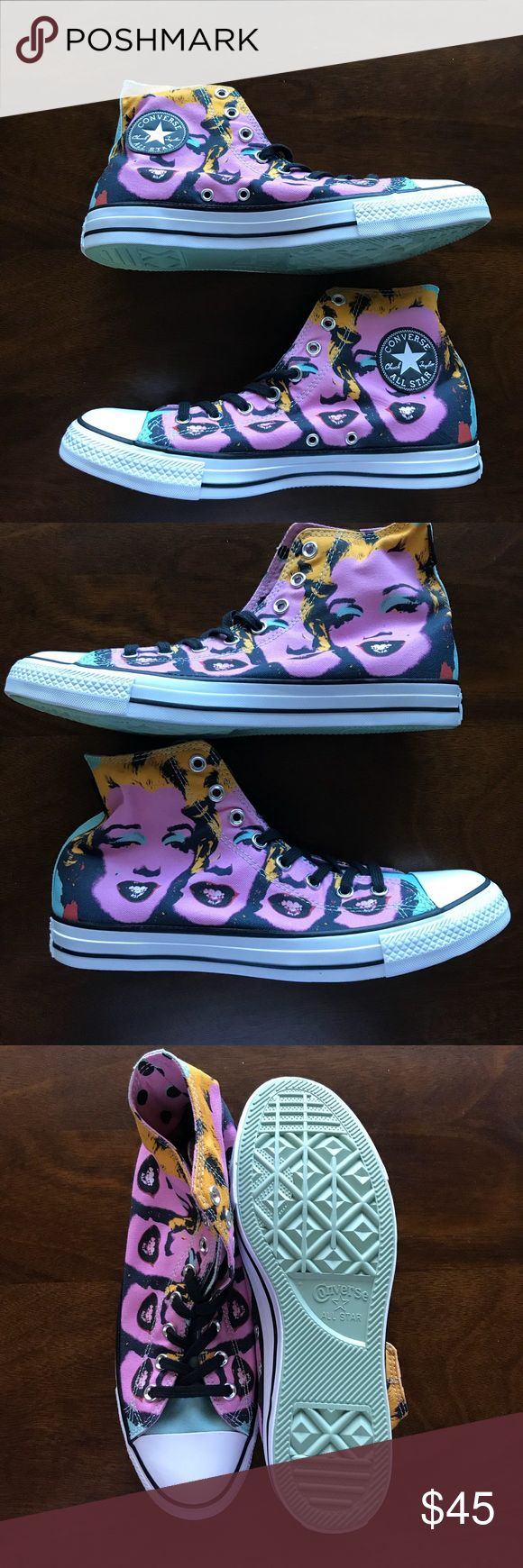 NIB Converse Andy Warhol Marilyn Monroe. Brand new Andy Warhol Marilyn Monroe print Converse Chuck Taylor. Size 9 men's 11 Women's Price firm $35 Converse Shoes Sneakers