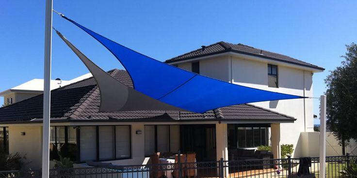 Nice overlapping shade sails