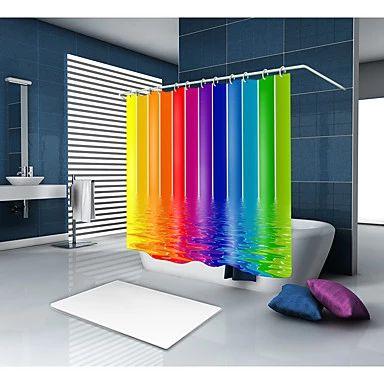 Duschvorhänge & Haken Polyester Zeitgenössische Neuheit Wasserdichtes Badezimmer   – Shower Curtains