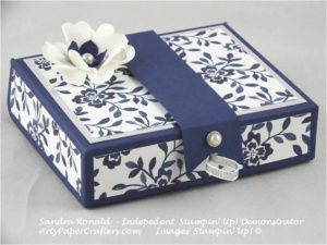 Handmade gift box made by Sandra Ronald, Independent Stampin' Up Demonstrator. All details on my website.
