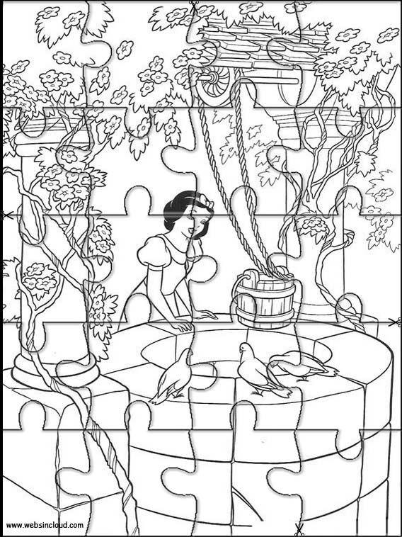 Puzzle Para Imprimir Branca De Neve E Os Sete Anoes 7 Arte Da