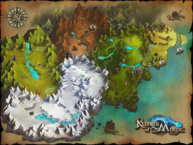 Mapa de Runes of Magic | Runes of Magic Map