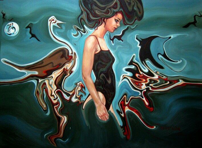 Dolunay,  oil on canvas, 150×225 cm ,2012