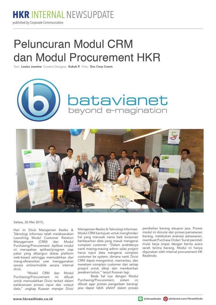 Peluncuran Module CRM & Procurement