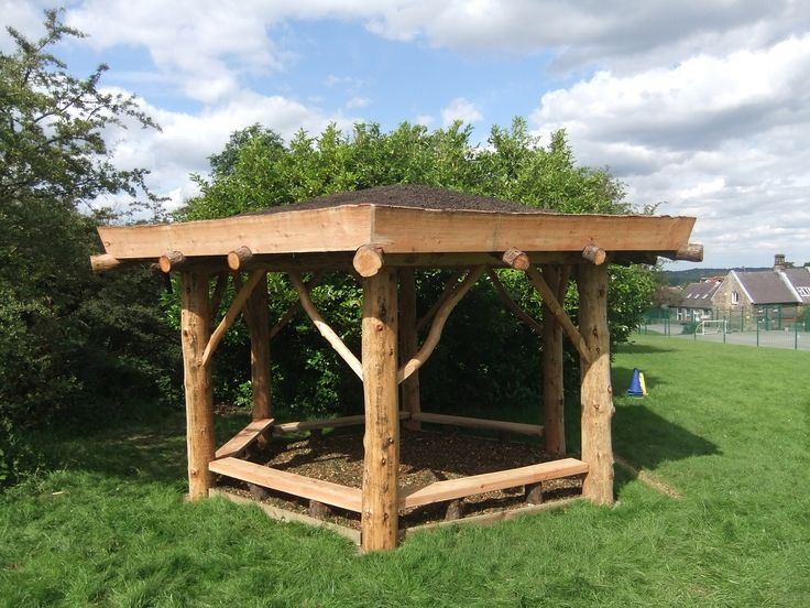 "We have built several round house shelters for use as outdoor classrooms, meeting spaces and workshops; often for schools and community projects. These timber frame structures are built using locally sourced timber. They are constructed using the timber in its natural form ""in the round"" to create a stunning focal point. We often cover the roof of our roundhouses with a living green roof that contrasts well with the natural form of the round-wood timber frame. We can design and build…"