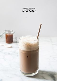This Salty Caramel Iced Latte is a new take on a classic coffee creation. Served in a Nespresso VertuoLine Recipe Set glasses, refreshing drink ideas like these are perfect for summer.