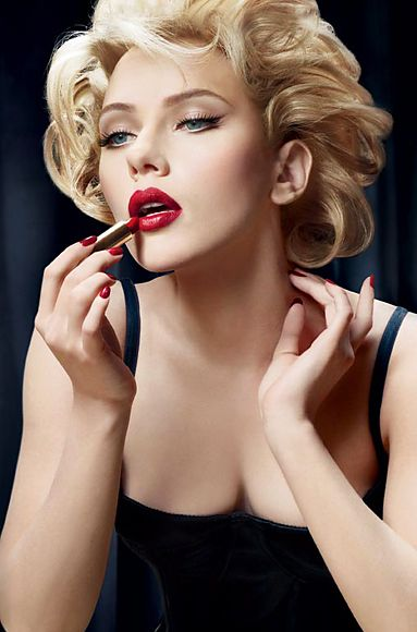 Scarlett Johansson channelling Monroe for a Dolce Gabbana beauty campaign. Get those luscious red lips with these must-know makeup tips http://www.burlexe.com/burlesque-red-lip-makeup-tips-for-beginners/