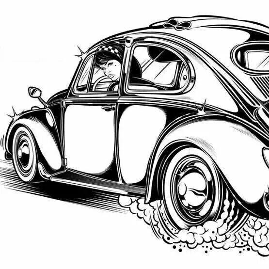108 best vw kever cartoon images on pinterest