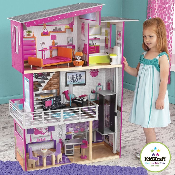 kidkraft canada luxury dollhouse 65871 dollhouses in. Black Bedroom Furniture Sets. Home Design Ideas