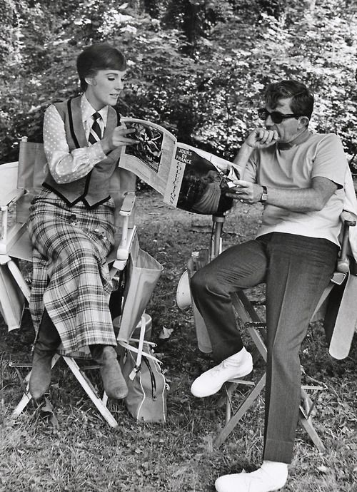 "Julie Andrews and Blake Edwards on the set of ""Darling Lili"""