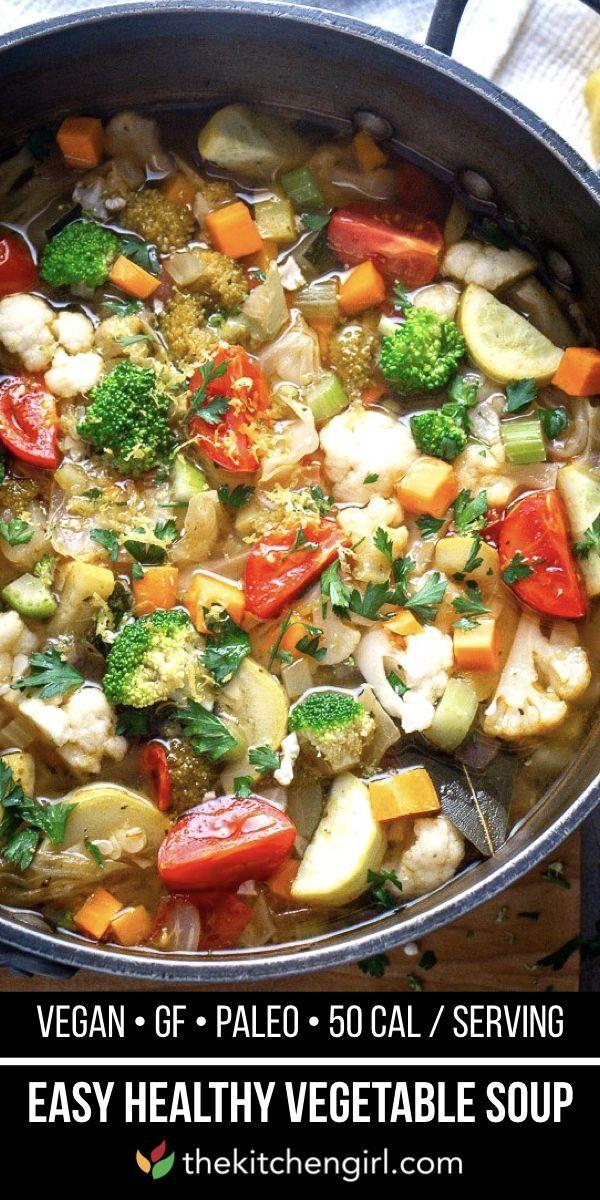 Healthy Homemade Vegetable Soup Gluten Free Vegan Recipe