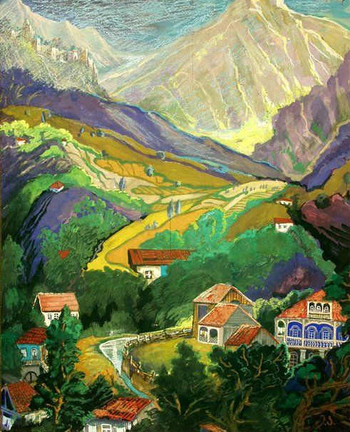1901 Elene Akhvlediani (1898~1975) was a 20th century Georgian painter, graphic artist, costume designer and theater decorator.