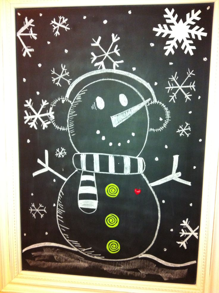 Snowman chalkboard idea