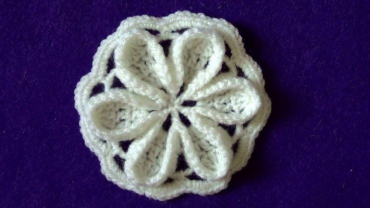 Мотив с объемным цветочком