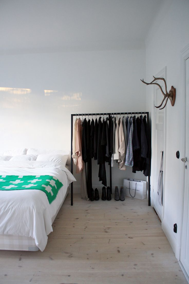 bedroom  (Could an open clothes rack work in our guest room?)