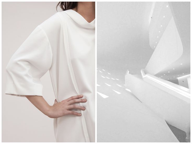 Inspiration behind Elena Ciuprina Spring 2015 collection. Architecture,  interior, white space