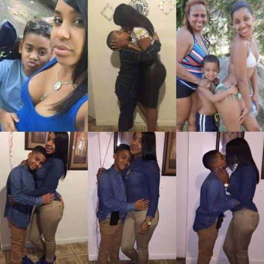 Ms Lopez, and her son, Jay Chris, in intimate poses,  kissing on her son's lips, Tia,and in all her Facebook and Instagram pages, nigeria news