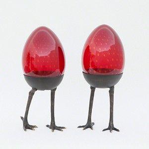 Ruby Egg on Legs