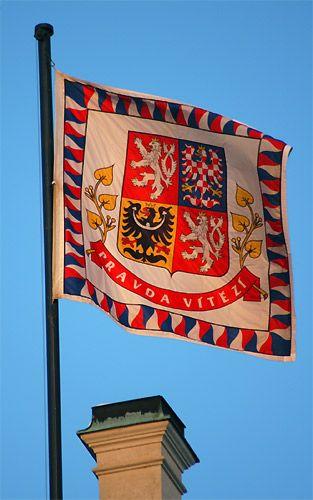 Czech President's flag on Prague Castle