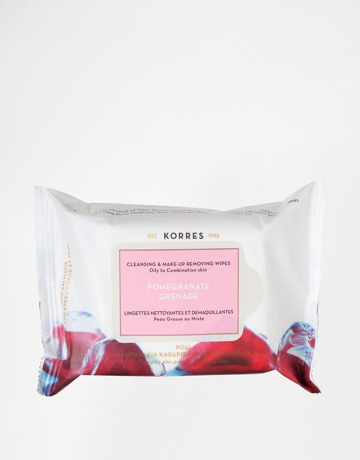 Korres – Pomegranate – Reinigungs- & Make-up-Entferner-Tücher mit Granatapfel für fettige & Mischhaut 10€
