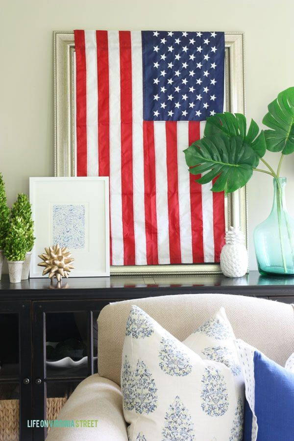 Red White Blue Bedroom Ideas Part - 47: Simple 4th Of July Decor. Holiday DecoratingDecorating IdeasDecor ...