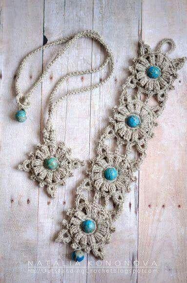 Earrings?...Love the bracelet look with old lace/doilies