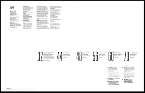 Eye Magazine Table of Contents Redesign  Like the elegant simplicity and use of space