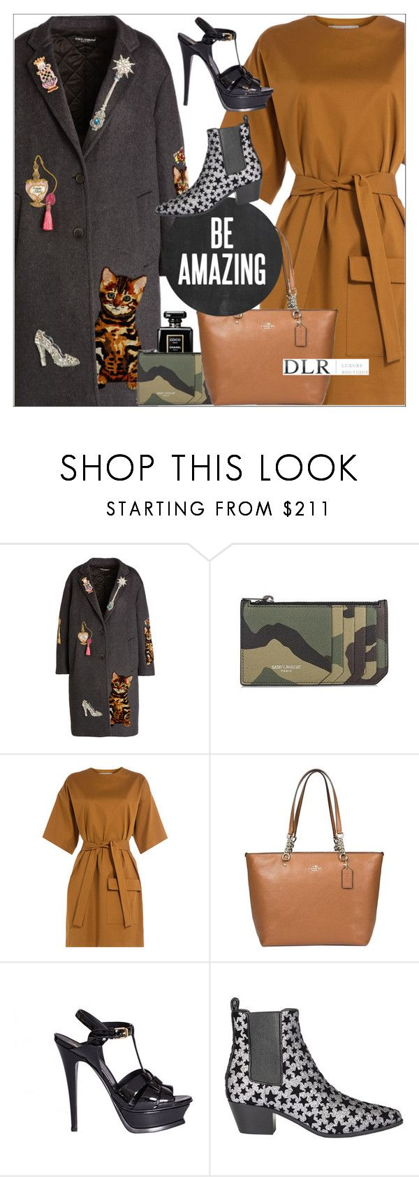 """""""DLRBOUTIQUE.COM"""" by mirachu-1 on Polyvore featuring Dolce&Gabbana, Yves Saint Laurent, MSGM and Coach"""