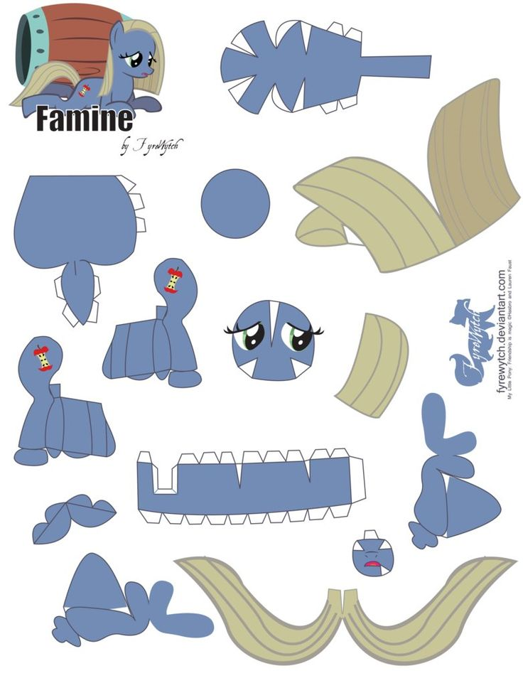 Famine Papercraft by FyreWytch on deviantART