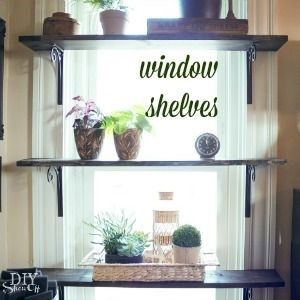 Diy Window Plant Shelves At Make It Home Pinterest
