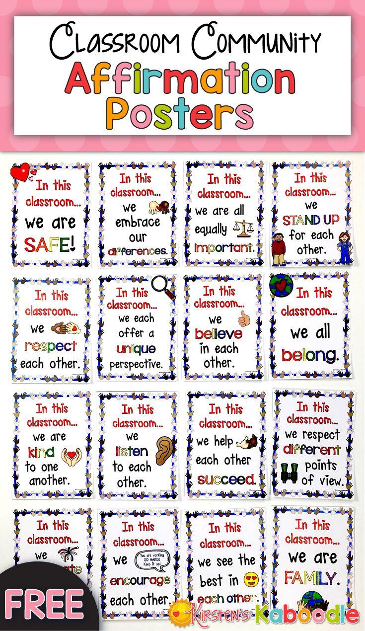 Affirmation Posters – Klassenzimmergemeinschaft