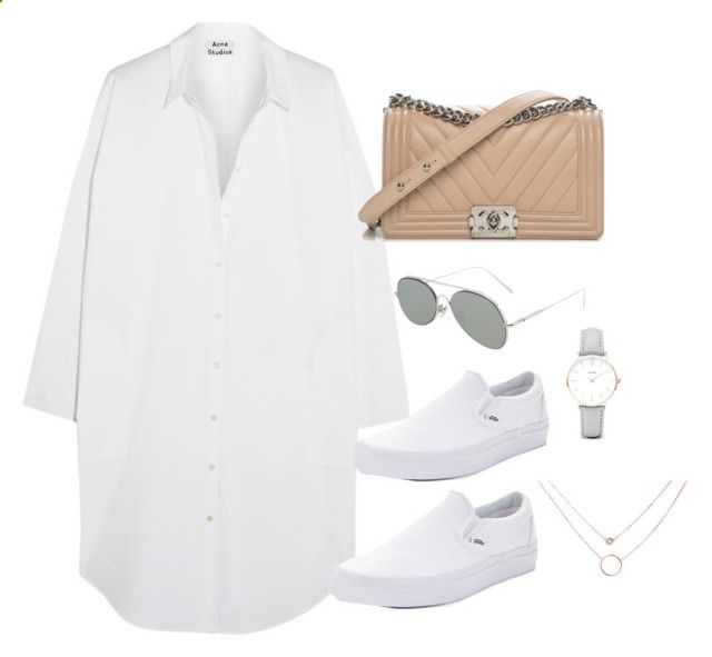 Untitled #4264 by magsmccray on Polyvore featuring Acne Studios, Vans, Chanel and CLUSE