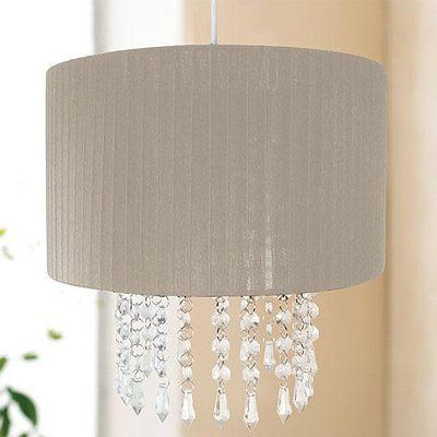 40 best lighting images on pinterest bedrooms bedroom suites easy fit chandelier light lamp shade fitting with acrylic crystal droplets taupe mozeypictures Image collections